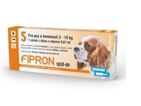 Fipron 67mg Spot-On Dog S sol 1x0,67ml